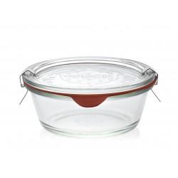 6 bocaux Droits Gourmets WECK® 300 ml. Couvercles et joints compris. Clips non inclus.