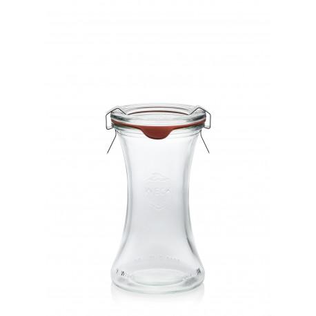 6 vasi Bobine 200 ml con coperchi di vetro e guarnizion incluse