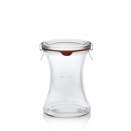 6 vasi Bobine 370 ml con coperchi di vetro e guarnizion incluse
