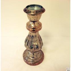 Grand candélabre, grand bougeoir doré hauteur 40 cm