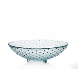 Saladier en verre 100% recyclé collection PUNTOS 40 cm de diamètre