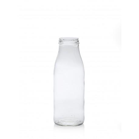 Lot de 6 bouteilles en verre modèle Fraîcheur, 500 ml