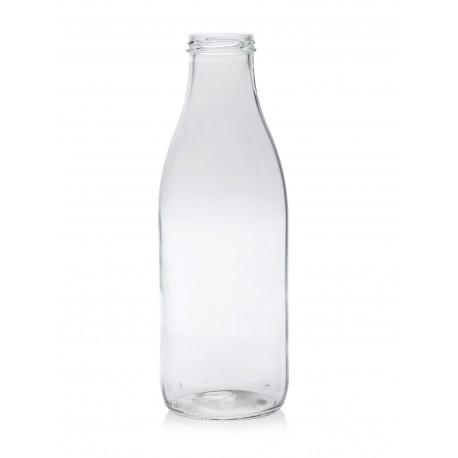 Lot de 6 bouteilles en verre modèle Fraîcheur 1 litre capsules comprise TO 48 mm