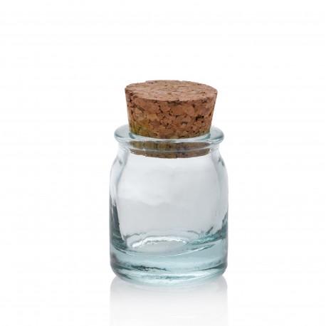 24 Mini bocaux Ronds, bouchon en liège 30 ml