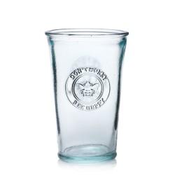 Lot de 6 verres en verre Bee Happy ! 100% recyclé avec motif abeille