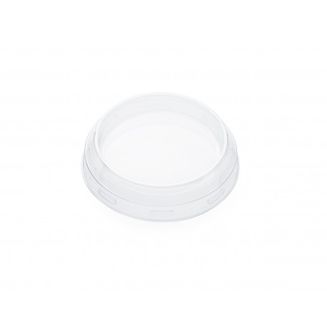24 transparent plastic lids for Weck jars diameter 60 mm