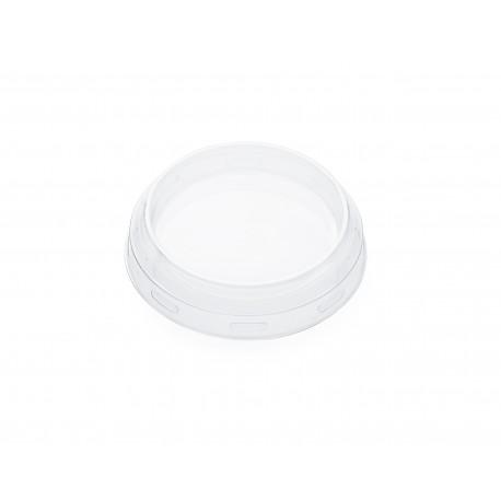 24 Coiffes diamètre 60 mm en plastique transparent PET pour bocal WECK