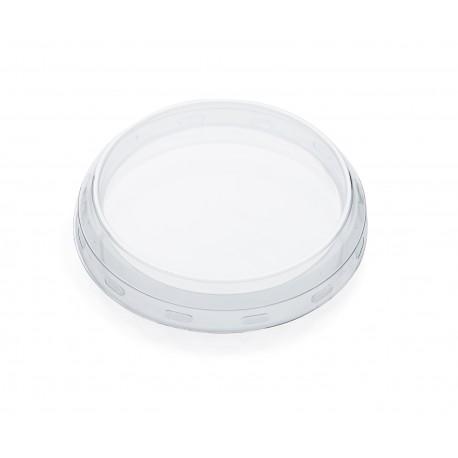 24 Coiffes diamètre 80 mm en plastique transparent PET pour bocal WECK