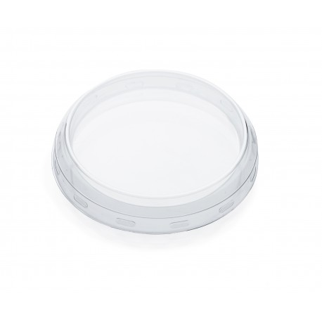 24 transparent plastic lids for Weck jars diameter 80 mm