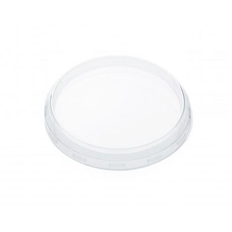24 transparent plastic lids for Weck jars diameter 100 mm