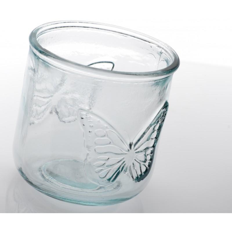 lot de 6 verres photophores papillon petit modele mariposa haut 9 cm mcm emballages. Black Bedroom Furniture Sets. Home Design Ideas