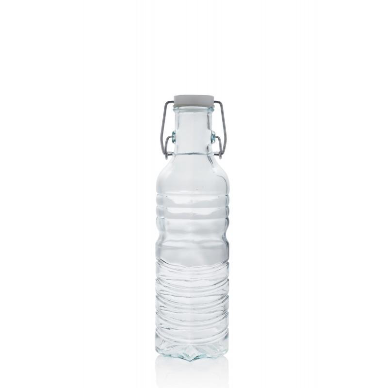 bouteille en verre style eau min rale 700 ml avec capsule m canique type limonade mcm. Black Bedroom Furniture Sets. Home Design Ideas
