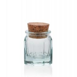 24 Mini bocaux 39 ml Octogonaux avec bouchon en liège