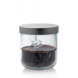 """Bougie délicieusement parfumée à la cannelle dans un photophore en verre 100% recyclé """"Vaso Jardin"""""""