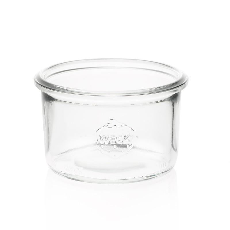12 bocaux weck droits 200 ml avec couvercles en verre et. Black Bedroom Furniture Sets. Home Design Ideas