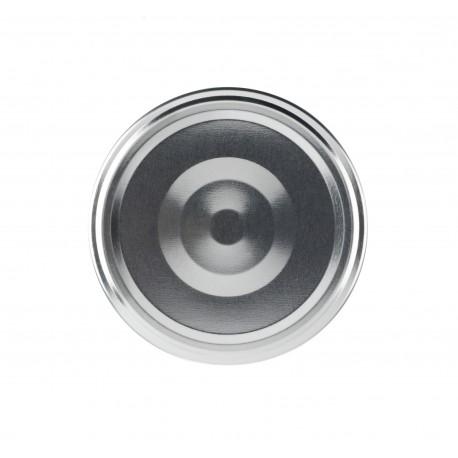 100 capsules à visser pour bocaux couleur argent, diamètre 82mm