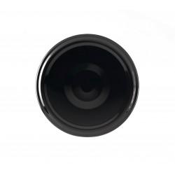100 capsules diamètre 43 mm noires pasteurisables à visser pour bocaux en verre