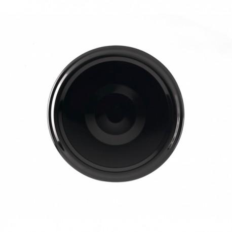 100 Capsules pour bocaux TO  70 mm noires pasteurisables