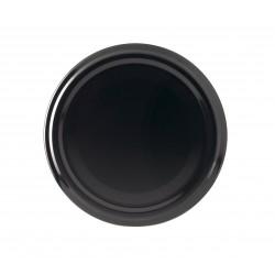 100 lids for glass jars diameter 43mm black color