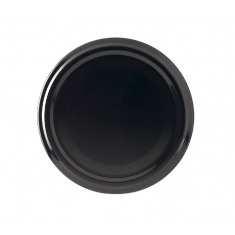100 lids for glass jars diameter 43mm black color
