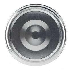 100 capsules à visser pour bocaux couleur argent, diamètre 43mm