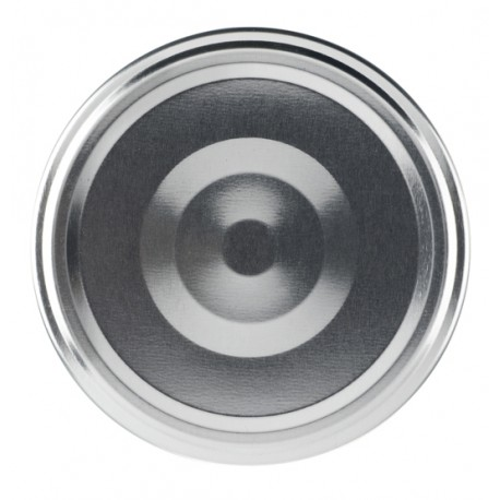 100 capsules TO 43 mm Argent stérilisables avec Flip