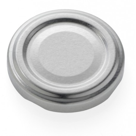 100 twist off caps Silver diam. 48 mm for pasteurization