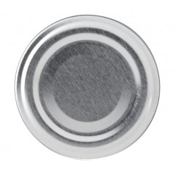 100 Capsules TO 53 mm argent pasteurisables