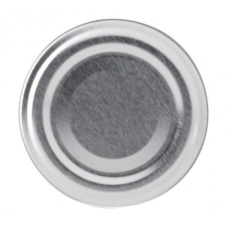 100 Capsules à visser pour bocaux couleur argent, diamètre 53mm