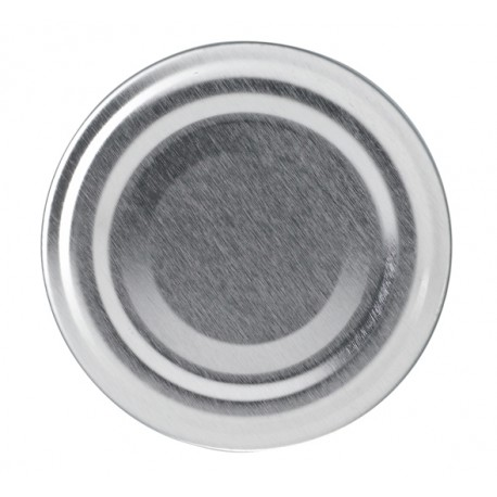 100 Capsules TO 53 mm argent pasteurisables