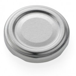 100 Capsules TO 58 mm argent pasteurisables