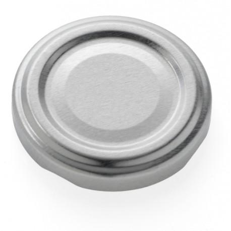100 capsules à visser pour bocaux couleur argent, diamètre 58mm