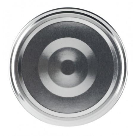 100 Capsules TO 58 mm argent stérilisables avec flip