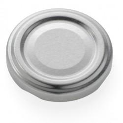 100 Capsules TO 63 mm argent pasteurisables