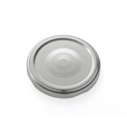 100 capsules à visser pour bocaux couleur argent, diamètre 63 mm