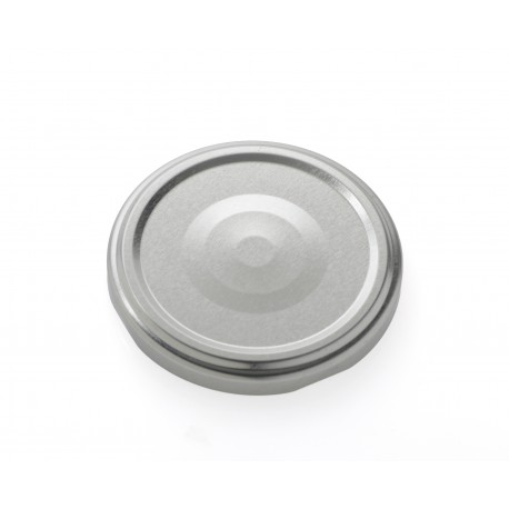 100 Capsules TO 63 mm argent stérilisables avec Flip