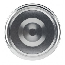 100 capsules TO 70 mm argent stérilisables avec Flip