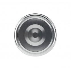 100 capsule per vasi colore argento, diametro 82mm