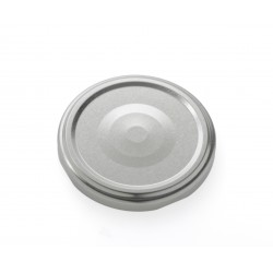 100 lids twist-off for glass jars, color silver, diameter 82mm