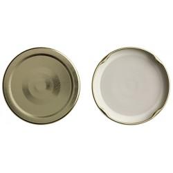 100 capsule TO 58 mm colore oro per la pasteurizazzione con Flip