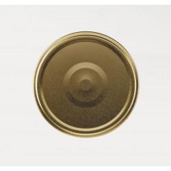 100 Capsules à visser pour bocaux diamètre 63mm couleur or