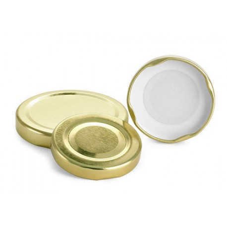 100 Capsules à visser pour bocaux diamètre 66mm couleur or