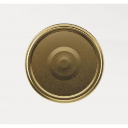 100 caps TO 66 mm Gold color for sterilization with flip