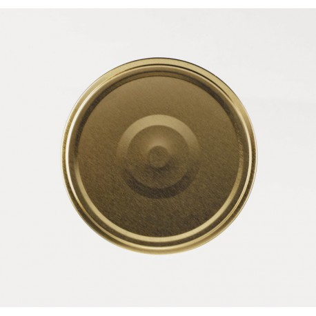 100 Twist-off Caps gold color 66mm