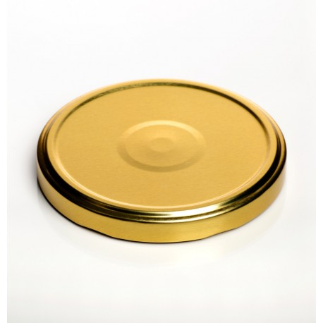 100 caps TO 82 mm Gold color for sterilization with flip