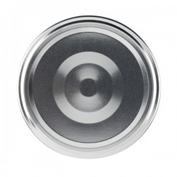 100 capsules à visser pour bocaux couleur argent, diamètre 66mm
