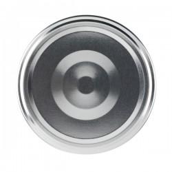 100 Capsules TO 66 mm Argent Stérilisables avec Flip