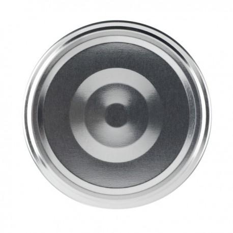 100 capsule per vasi colore argento, diametro 66mm