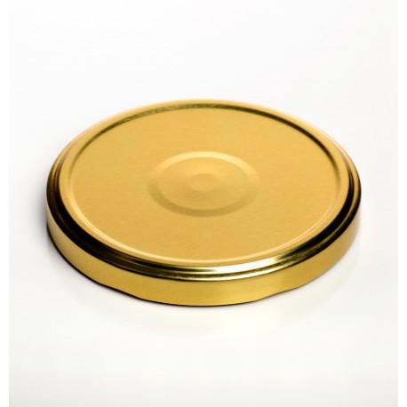 100 capsules à visser pour bocaux diamètre 110mm couleur or