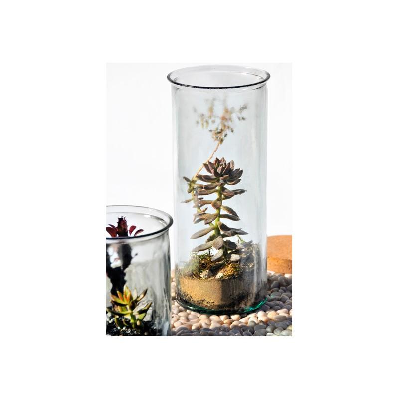 grand vase jarron oceania hauteur 34 cm en verre recycl. Black Bedroom Furniture Sets. Home Design Ideas